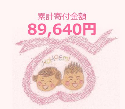 イラスト:累計寄付金額59,650円
